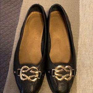 Aero soles Black Leather Flats